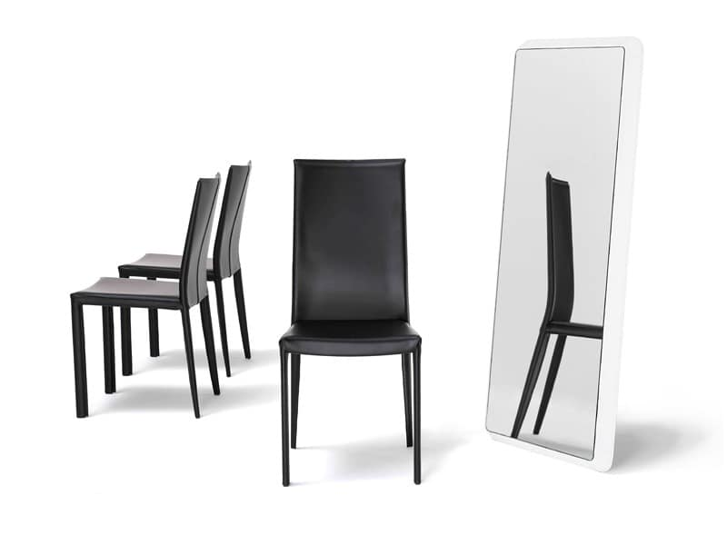 Jury high, Chair with high back, tapered back legs, for hotel