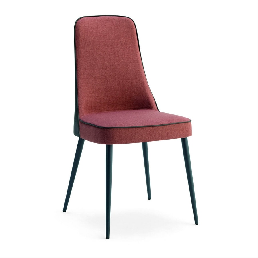 Karina 2, Wooden chair with high padded back