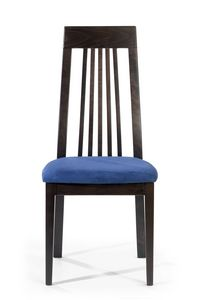Roby A, Chair with high back with vertical slats