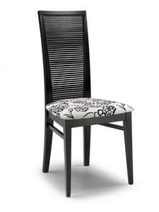 Siria O, Modern chair for contract use, with high back
