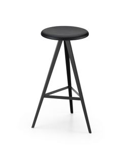 ART. 0122-H67-MET AKY, Stool with base on perch