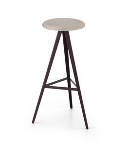 ART. 0122-H78-MET AKY, Stool with ash seat