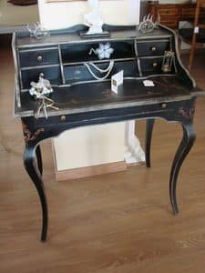 Art. 290/6, Classic lacquered desk for home, with 6 drawers