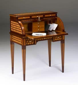 Art. 800/1, Inlaid desk with drawers and flap closure