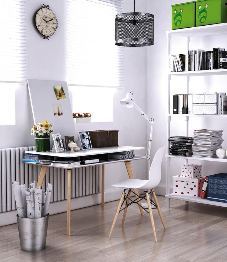 Art. 902 Academy, Desk in melamine, with flared edge
