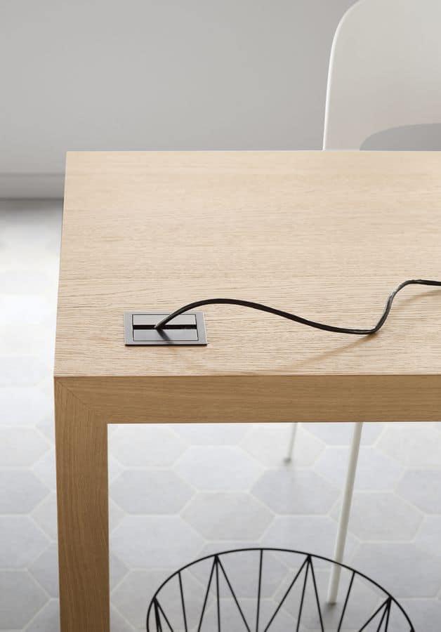 Domino writing desk, Eooden desk, with custom-sized width