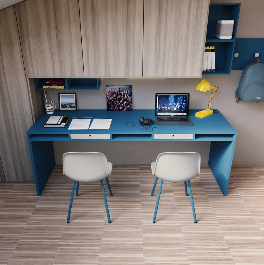 Easy desk 02, Large desk with drawers