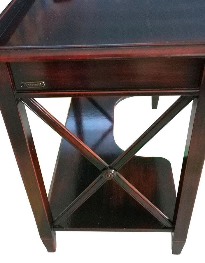 Ilario FA.0037, PC stand desk, handmade fittings, antique-style