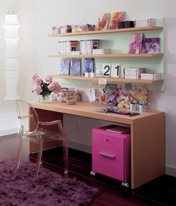 Linear desk 03, Wooden desk for kid bedroom