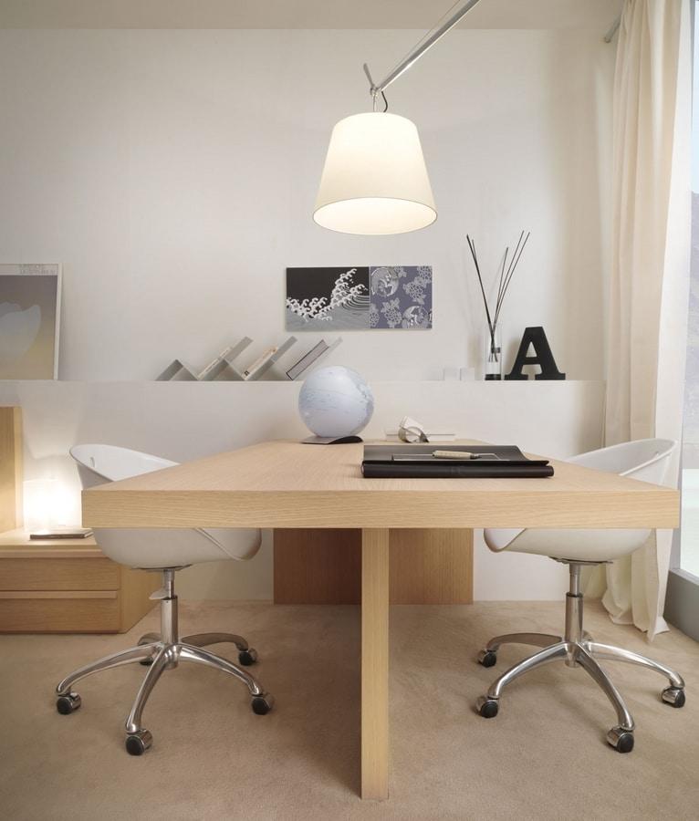 Linear desk 04, Elegant double desk