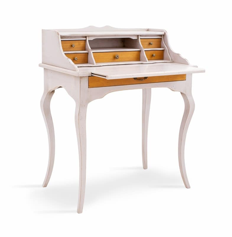 MERCURIO Art. 4267, Classic wooden desk, with flap doop, for office