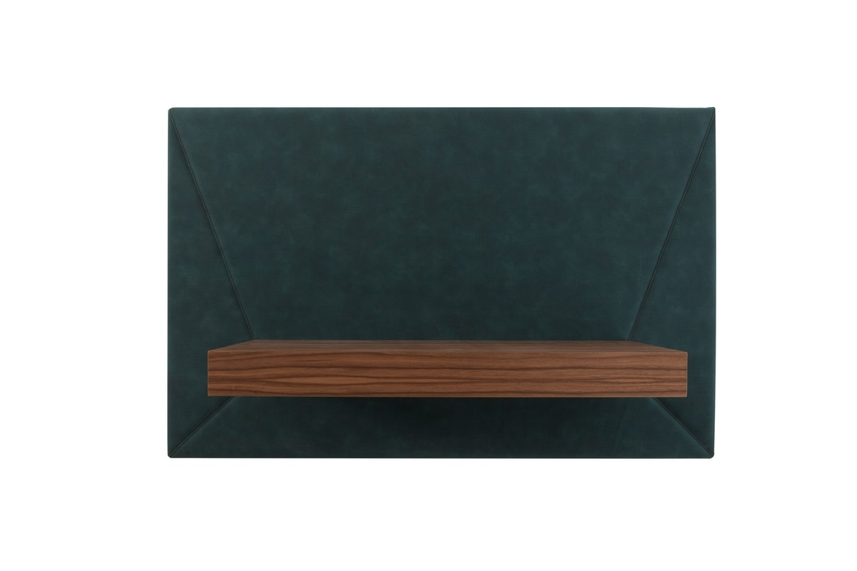 SOUND, Wall writing desk, covered in leather