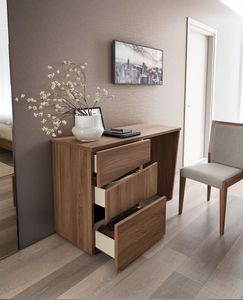 Storm writing desk, Writing desk in wood with 3 drawers
