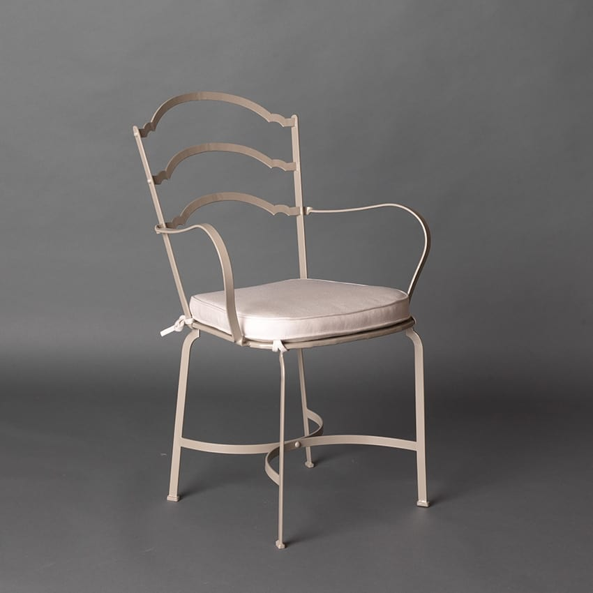 ARCHI GF4013CH-B, Iron chair for outdoor, taupe color
