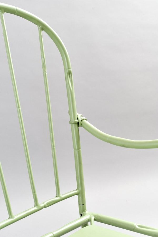 BAMBOO GF4012CH, Outdoor green iron chair