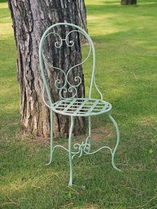 CAFF� GF4011CH, Decorated wrought iron chair, for outdoor use