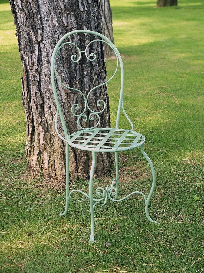 CAFFÈ GF4011CH, Decorated wrought iron chair, for outdoor use