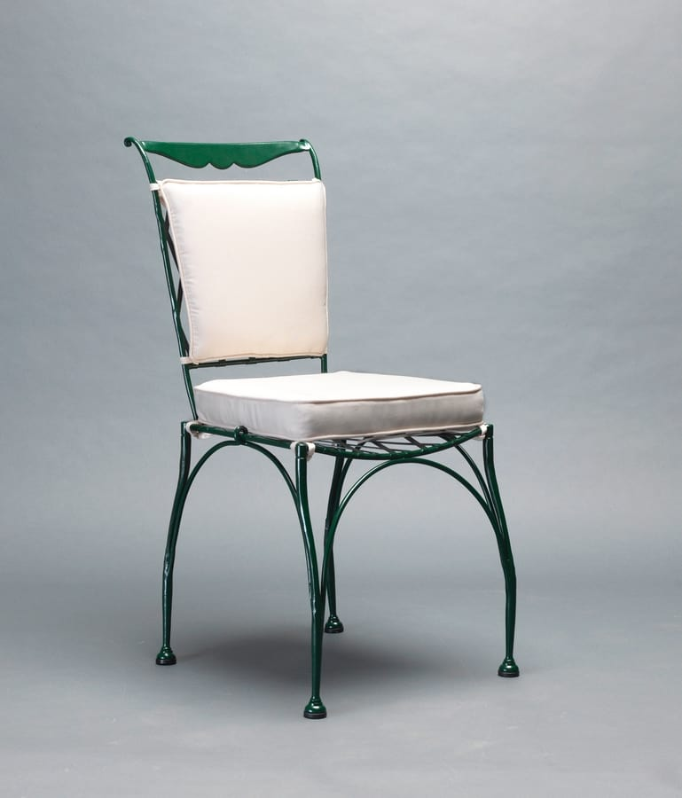 FLORIO GF4005CH, Wrought iron chair for outdoor