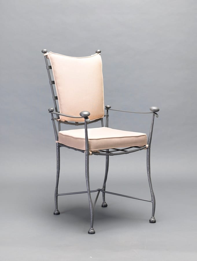 INTRECCIO GF4004CH-A, Outdoor chair in iron with armrests