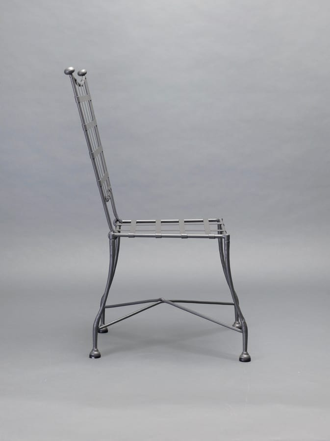INTRECCIO GF4004CH, Outdoor chair in gray wrought iron