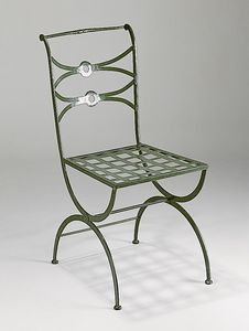 PIAZZA GF4009CH, Outdoor chair in green iron