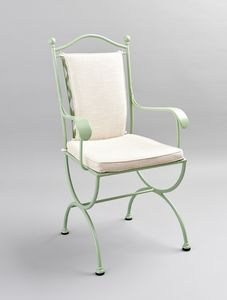 ROMBI GF4002CH-B, Iron chair for outdoor with cushions