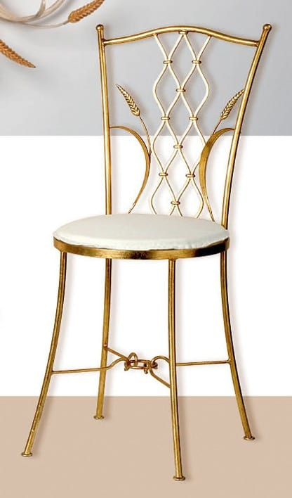 S.6940/4, Wrought iron chair with gold leaf finish