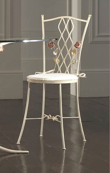 S.6945/4, Wrought iron chair worked