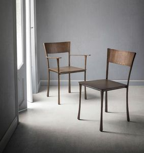 Serena, Chair in wrought metal and welded by hand