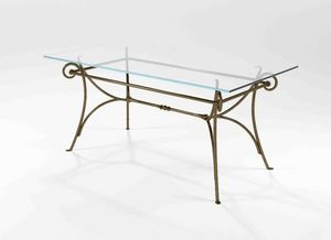 Bach, Table with base in solid forged iron