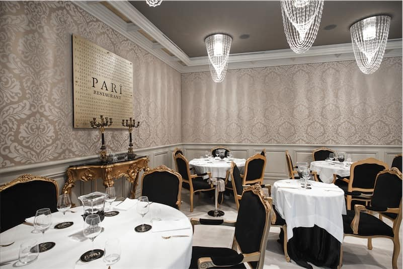 Restaurant Parì Luxury Hall