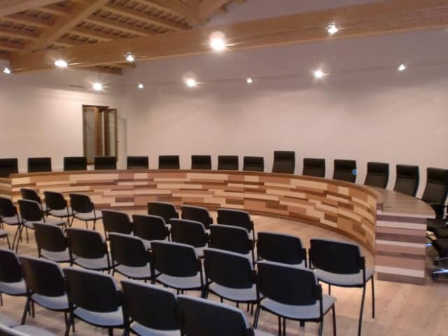 The conference room of the Municipality of Gaiarine