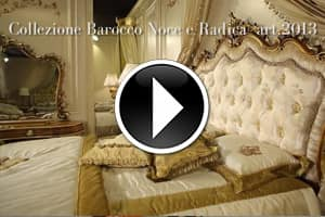 Classic double bed in Baroque style